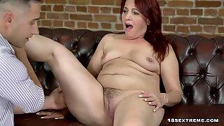Mature woman enjoyning her time