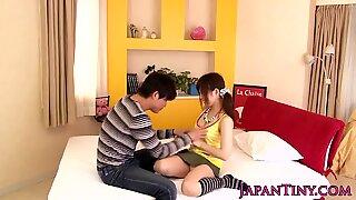 Petite Japanese Miku Airi enjoys sixtynine