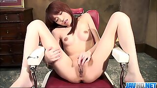 Long legged raven-haired babe finger fucking to orgasm - Pink Pussy