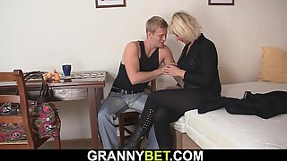 sexy blonde woman spreads legs for hot neighbor