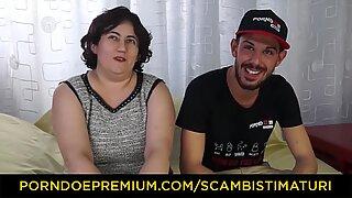 SCAMBISTI MATURI - Mature BBW gets deep anal pounding