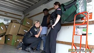 Milf makes herself squirt first time Black suspect taken on a harsh ride