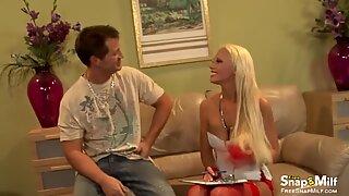 Busty Blonde Milf in Hardcore Scene