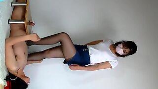 Chinese mistress cock trample cum