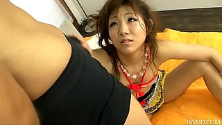 Naughty and dirty japanese slut starring in BDSM video and sucking dick hard