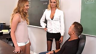 Horny teacher punishes students