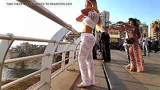 White pants sexy ass