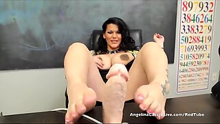 Big Titted Angelina Castro in Class FootJob 1