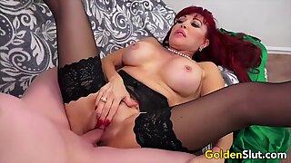 Golden Slut - Busty Mature Compilation 1