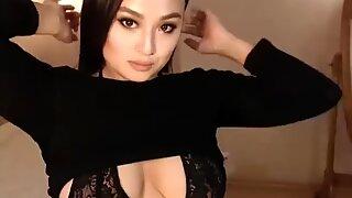 Cute asian huge tits and big booty milf webcam teasing