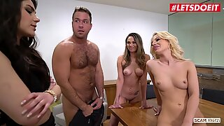 LETSDOEIT - Business Guy Fucks His Girls And Gets Scammed (Bella Rose &amp_ Athena Faris)