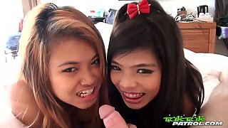 TUKTUKPATROL Dripping Creampie Threesome With Asian Babes