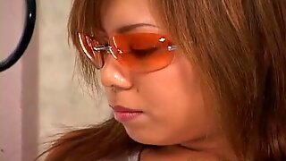 Aya Fujii hot Asian milf in glasses gets pussy poked
