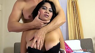 Lust over big Asian boobs and then creampie her