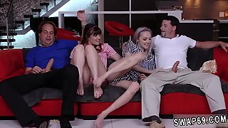 Daddy handjob Movie Night Madness