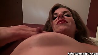 Milf Katrina comes home and needs to relax