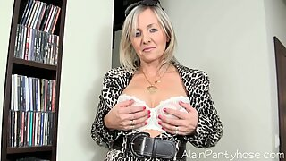 Mature mom showing her curvy body