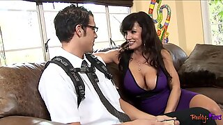 MILF stepmom riding cock before doggystyle